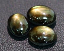 Star Sapphire 12.74Ct Natural Thailand Golden Black Star Sapphire C0417