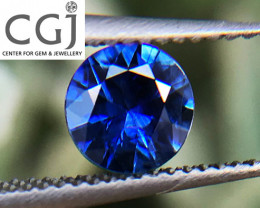 Certified Unheated - 0.35ct - Royal Blue Sapphire