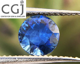 Certified Unheated - 0.39ct - Blue Sapphire