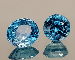 2.65Crt Blue Zircon Natural Gemstones JI113