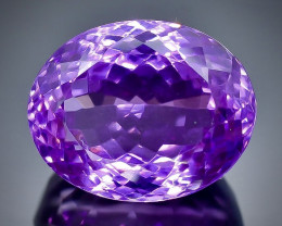 20.33 Crt Natural Amethyst Faceted Gemstone.( AB 65)