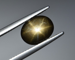 Natural Black Star Sapphire 2.46 Cts, Sharp Rays