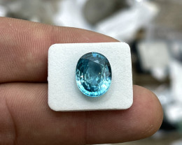 9.60 ct Blue Zircon - Cambodian - $1800 Retail