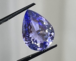 7.56 ct Pear Tanzanite - Loupe Clean $2100 retail