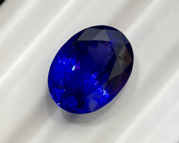 32.13 ct World Class Tanzanite Oval - Royal Blue & Violet