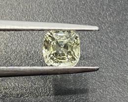 1ct unheated yellow sapphire