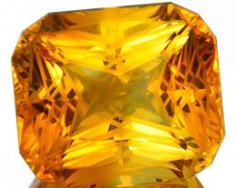 ~CUSTOM CUT~ 2.67 Cts Natural Golden Orange Citrine Fancy Cushion Brazil