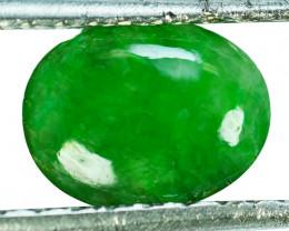 ~UNTREATED~ 1.71 Cts Natural Jade Cabochon Vivid Green Burmese