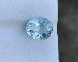 Natural Aquamarine 4.09 Cts Good Quality Gemstone