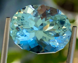 7.12 ct Blue Aquamarine  from Brazil With fine Cutting Gemstone