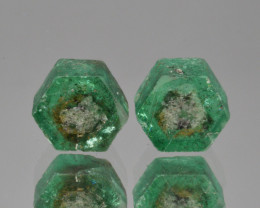 Natural Emerald Pair 4.66 Cts Top Luster from Swat
