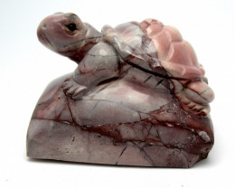 127.3gr Mexican Bulico Jasper Turtle Carving