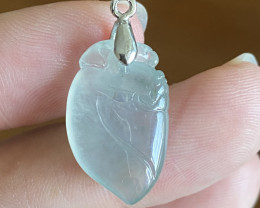 Natural Type-A Peach Carving Pendant