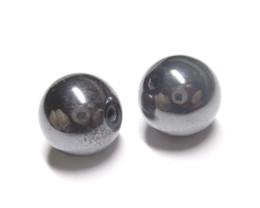 25.44tcw Hematite Natural Matching Round 10mm Beads