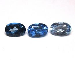 1.81tcw Blue Topaz Color Master Set