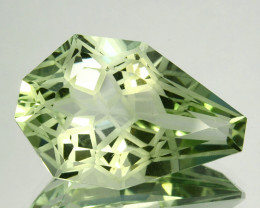 ~CUSTOM CUT~ 14.37Cts Natural Prasiolite / Amethyst Fancy Cut Brazil