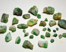 Beautiful Natural color Swat Rough Emerald with Matrix parcel 150CtsN-H1