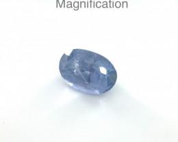 3.18ct Oval Blue Sapphire Unheated