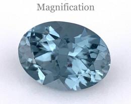 0.57ct Oval Blue Sapphire Unheated