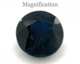 1.07ct Round Blue Sapphire