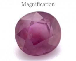1.22ct Cushion Pink Sapphire Unheated
