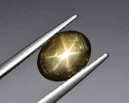 Natural Black Star Sapphire 2.38 Cts, Six Rays