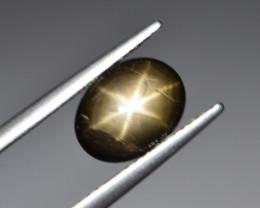 Natural Black Star Sapphire 2.60 Cts, Six Rays