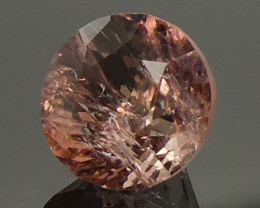 1.59ct Round Pink Tourmaline-$1 No Reserve Auction
