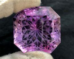 305.40 Carats Precision Flower Cut Amethyst Loose Gemstone