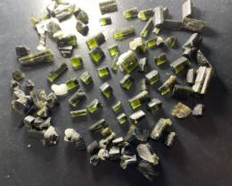Green Cap Tourmaline Crystal Lot