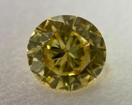 GIA Certified Round 2.03 Carat Natural Loose Fancy Vivid Yellow Diamond