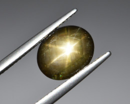 Natural Black Star Sapphire 3.27 Cts, Six Rays