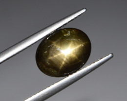 Natural Black Star Sapphire 3.64 Cts, Six Rays