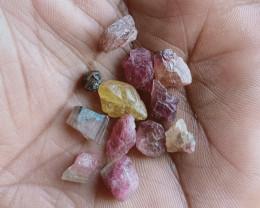 Natural Tourmaline Rough Parcel of 25 Ct Genuine Gemstones VA2669