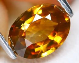Yellow Zircon 1.55Ct VS Oval Cut Natural Yellow Color Zircon B0901