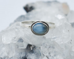 CHALCEDONY RING 925 STERLING SILVER NATURAL GEMSTONE JR977