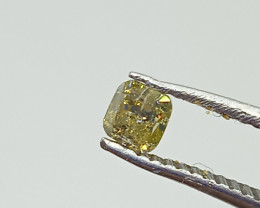 0.30ct  Fancy grayish Green Diamond , 100% Natural Untreated