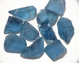 163Ct London Blue Natural Topaz Facet Rough Parcel