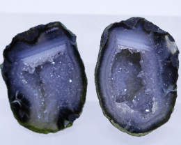 17.0 carats Untreated Crystalized Druzy Geode pair   ANGC-861