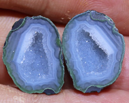 16.15 carats Untreated Crystalized Druzy Geode pair   ANGC-863