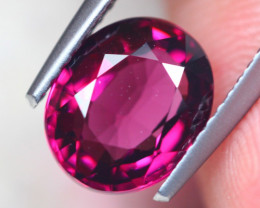 2.96ct Natural Rhodolite Garnet Oval Cut Lot V8685