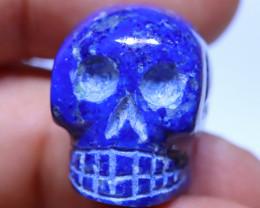 46.92 carats Lapis Lazuli Skull Carving ANGC- 866