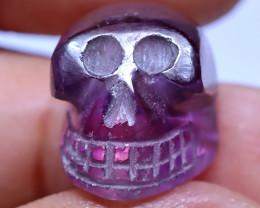 24.99 carats Amethyst  Skull Carving ANGC- 868