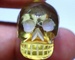 46.80 carats Lemon Quartz  Skull Carving ANGC- 870