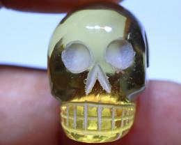 58 carats Lemon Quartz  Skull Carving ANGC- 868