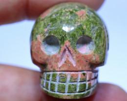 102 carats Unakite  Skull Carving ANGC- 872
