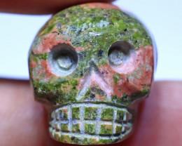 48 carats Unakite  Skull Carving ANGC- 873