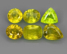 4.30 CTS~EXCELLENT NATURAL-YELLOW SPHENE MIXED PARCEL 6 PCS~