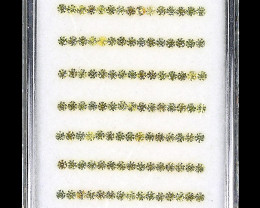 3.58ct 1.6mm 135pcs. Round Diamond Cut 100% Natural Top Rich Yellow Sapphir