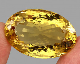 98.11 ct. Top Quality Natural Golden Yellow Citrine Brazil Unheated